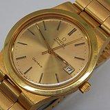 欧美回流 瑞士名牌欧米茄全自动24K镀金原装手表