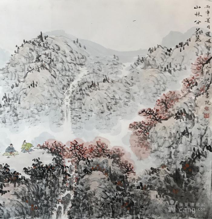保真 中国人民大学艺术学院助理导师夏媛国画四尺2图2