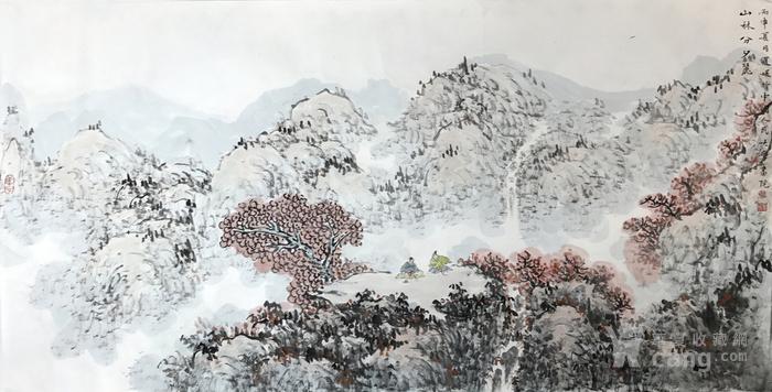 保真 中国人民大学艺术学院助理导师夏媛国画四尺2图1