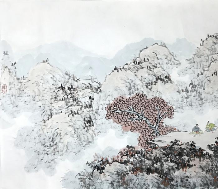 保真 中国人民大学艺术学院助理导师夏媛国画四尺2图3