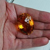 黄水晶 108.88克拉纯天然无加热巴西黄水晶 旺财石