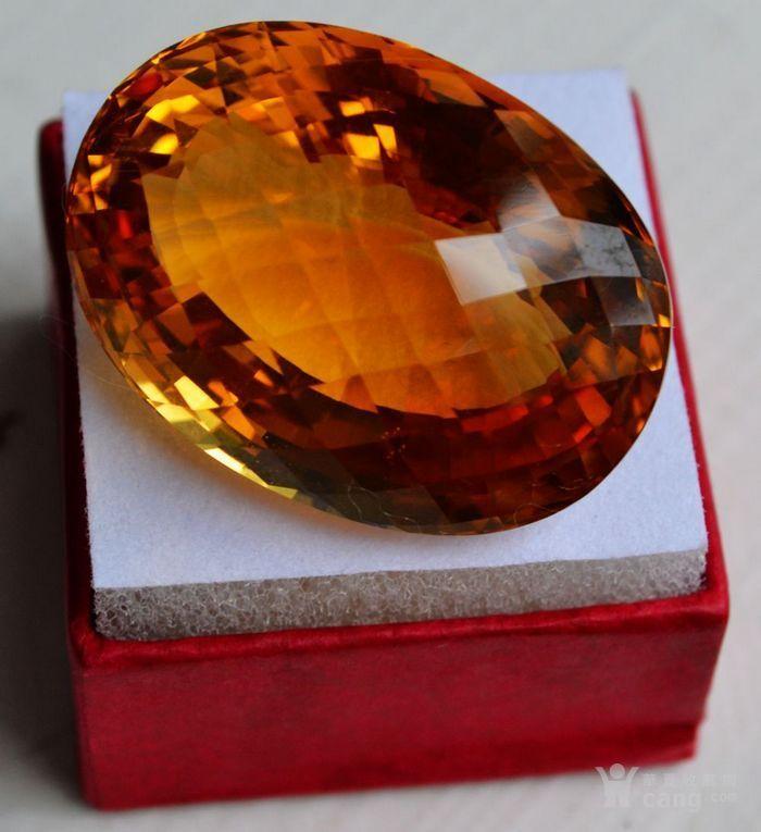 黄水晶 108.88克拉纯天然无加热巴西黄水晶 旺财石图4