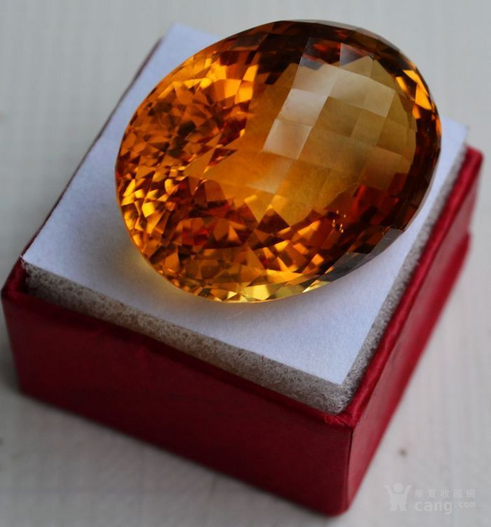 黄水晶 108.88克拉纯天然无加热巴西黄水晶 旺财石图3