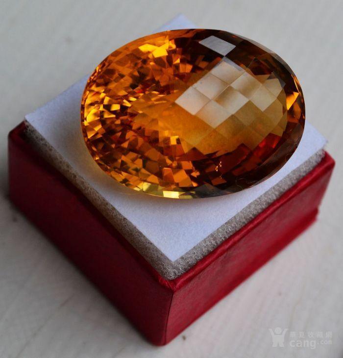 黄水晶 108.88克拉纯天然无加热巴西黄水晶 旺财石图5