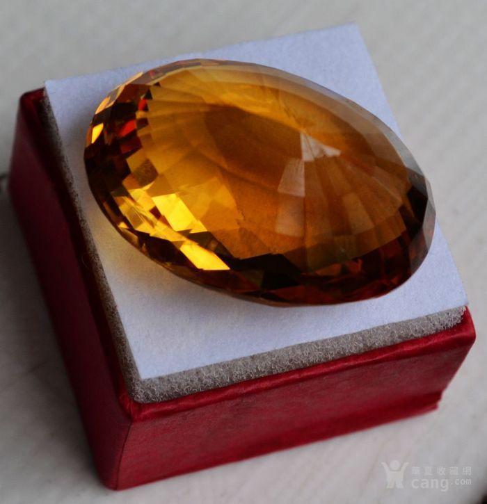 黄水晶 108.88克拉纯天然无加热巴西黄水晶 旺财石图6