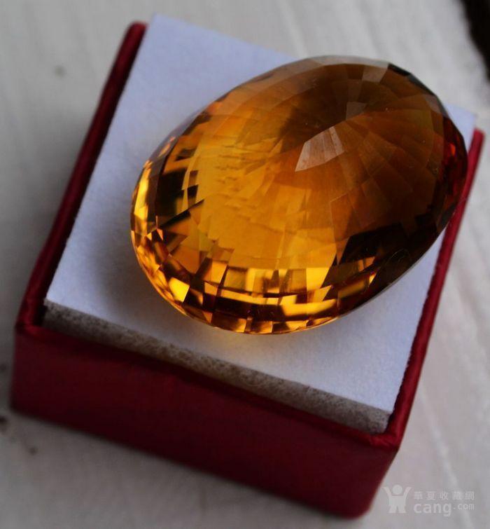 黄水晶 108.88克拉纯天然无加热巴西黄水晶 旺财石图7