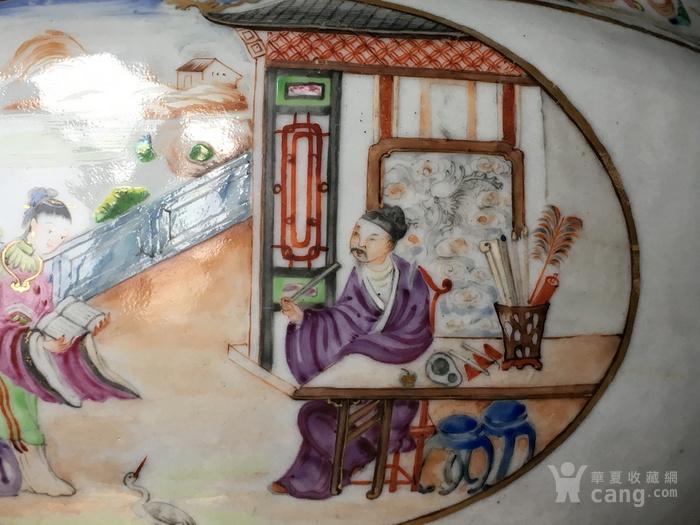 清嘉庆广彩外销大盖碗 修复,缺盖图8