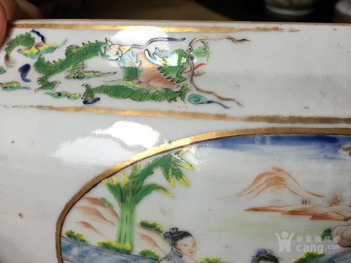 清嘉庆广彩外销大盖碗 修复,缺盖图9