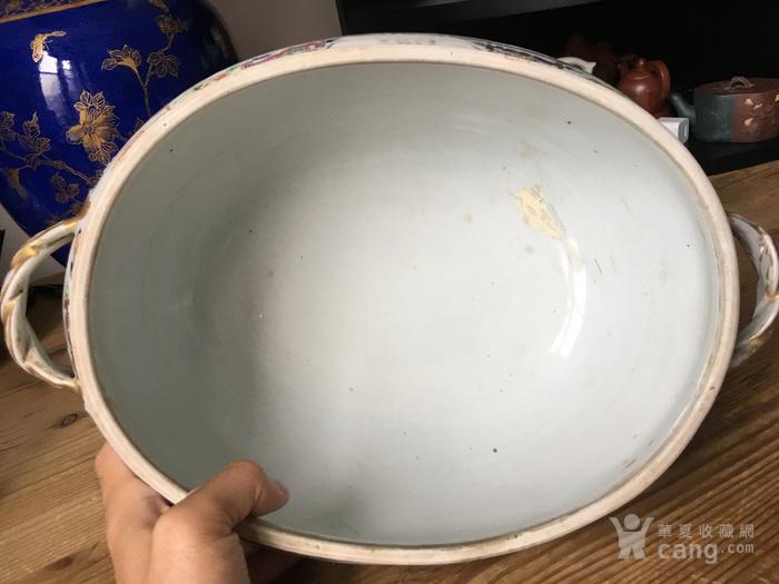 清嘉庆广彩外销大盖碗 修复,缺盖图12