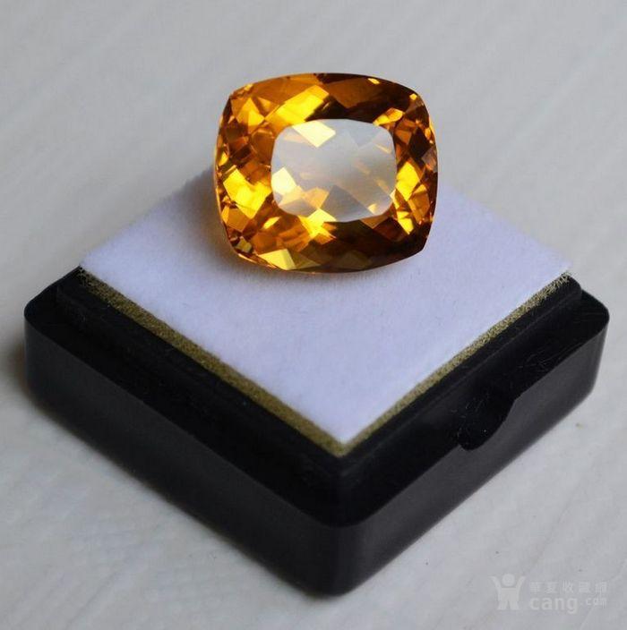 黄水晶 13.07克拉纯天然无加热巴西黄水晶 旺财石图1