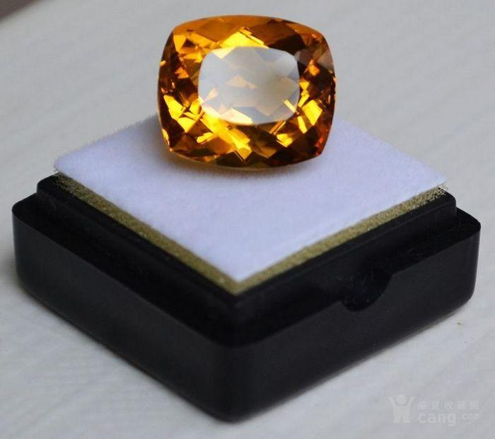 黄水晶 13.07克拉纯天然无加热巴西黄水晶 旺财石图2