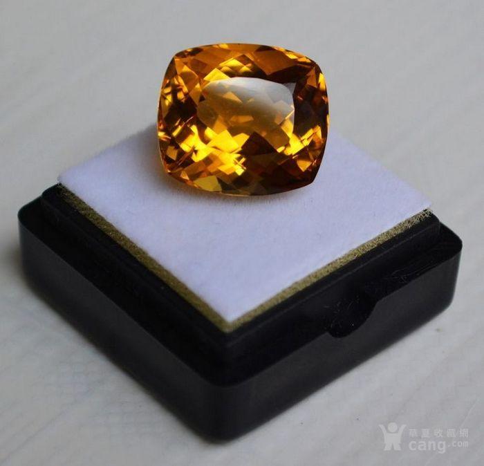 黄水晶 13.07克拉纯天然无加热巴西黄水晶 旺财石图3