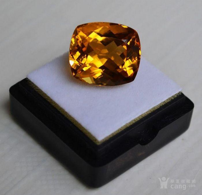 黄水晶 13.07克拉纯天然无加热巴西黄水晶 旺财石图5