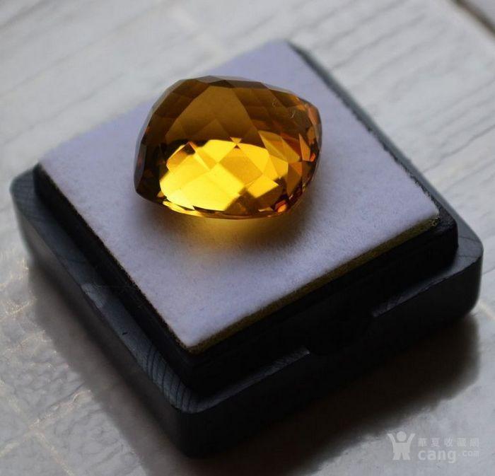黄水晶 13.07克拉纯天然无加热巴西黄水晶 旺财石图6