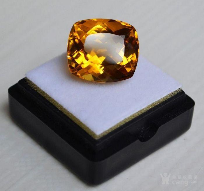 黄水晶 13.07克拉纯天然无加热巴西黄水晶 旺财石图4