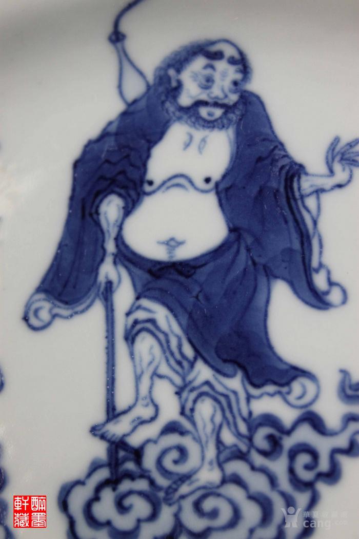 大明宣德年制 款青花绘八仙纹盘一对  醉墨轩图8