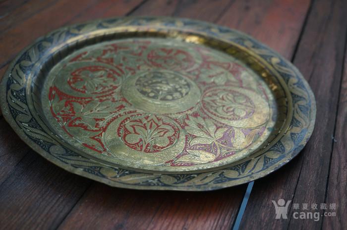 手工精錾纯铜大盘2个图4