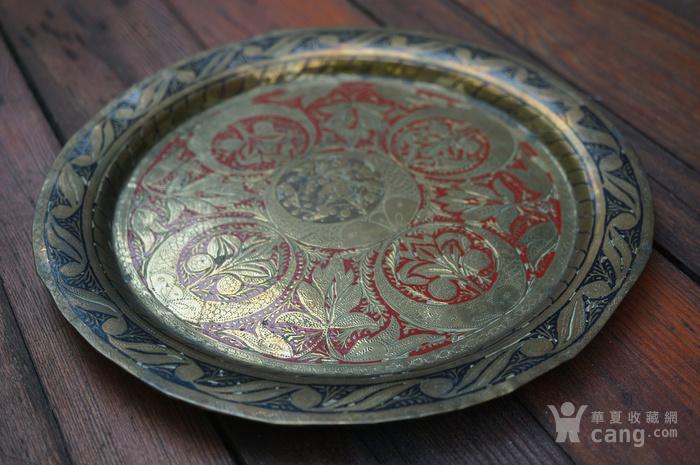 手工精錾纯铜大盘2个图5