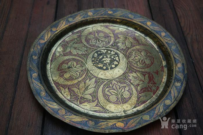 手工精錾纯铜大盘2个图1