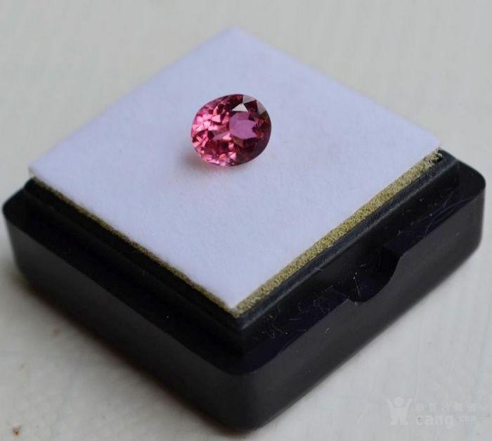 粉红色碧玺 莫桑比克纯天然粉红色碧玺1.09克拉图2