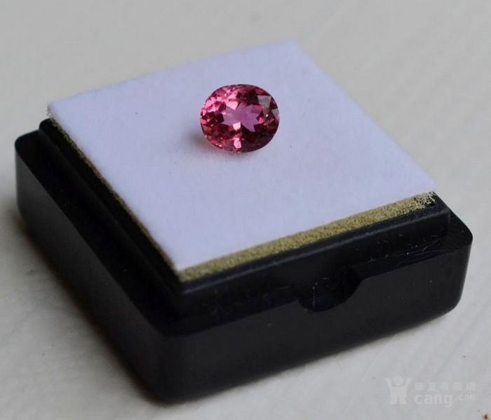 粉红色碧玺 莫桑比克纯天然粉红色碧玺1.09克拉图1