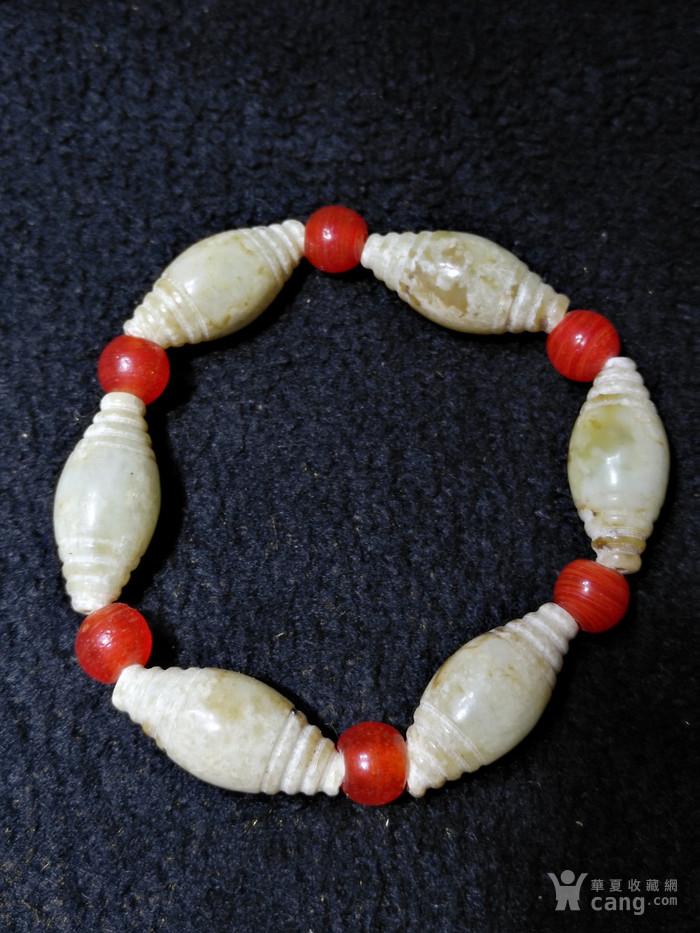 老玉纺锥形珠手链6颗图2