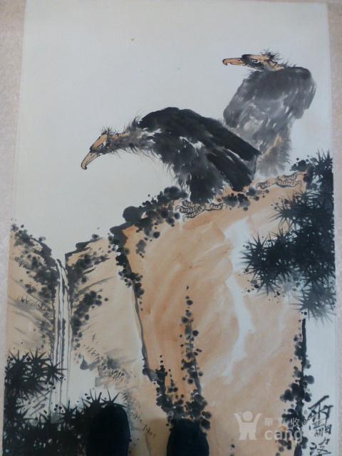 潘天寿鹰作品图2