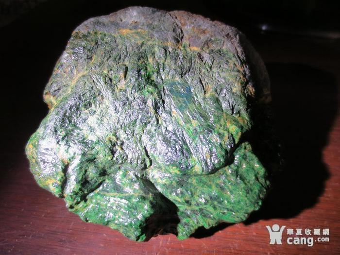 低售2斤多缅甸翡翠原石 干青色料赌石 113图3