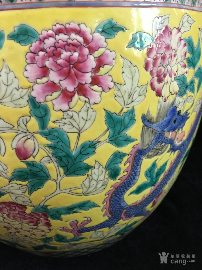 清光绪粉彩龙穿花卉纹超大件缸电话一八八一一一二二二一五图6