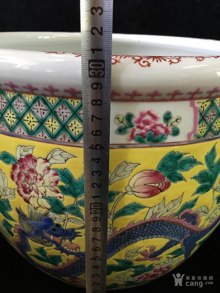 清光绪粉彩龙穿花卉纹超大件缸电话一八八一一一二二二一五图10