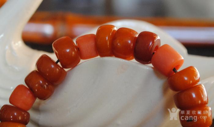 天然老蜜蜡与珊瑚手链图2