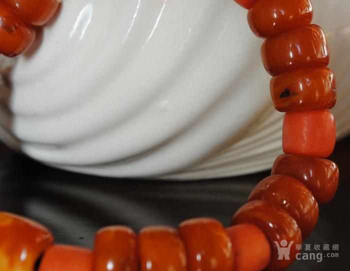 天然老蜜蜡与珊瑚手链图3
