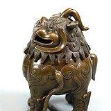 麒麟形铜香炉