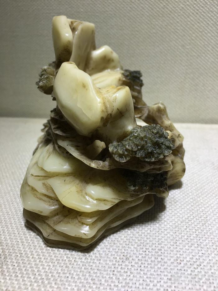 精品寿山石摆件高14厘米,直径12厘米两节喜欢的询价图11