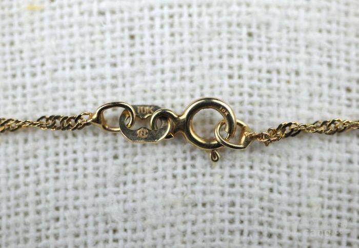 古董10K金十字架吊坠 项链。图5
