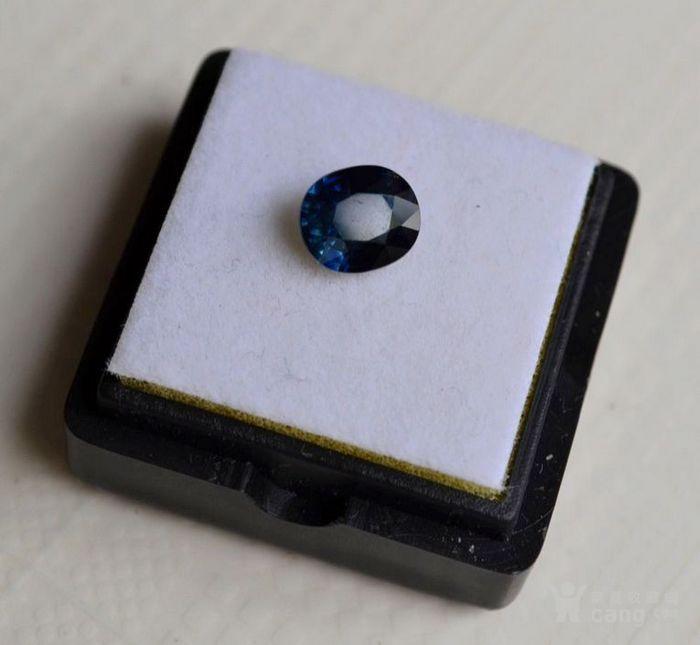 蓝宝石 斯里兰卡纯天然椭圆型1.56克拉蓝宝石图1