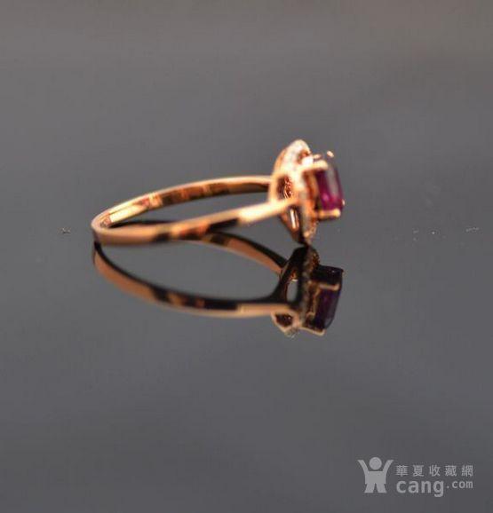 红宝石钻戒 天然缅甸抹谷红宝石镶南非钻石18K金女款钻戒图2
