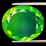 绿欧泊石 天然无任何处理欧珀 5.74克拉椭圆型 极靓七彩