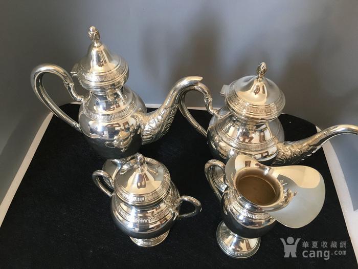 欧洲直邮 意大利银800咖啡茶餐具四件套图3