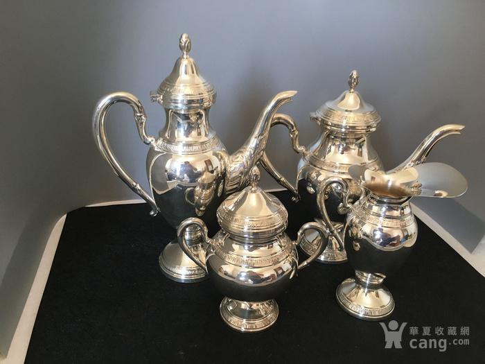 欧洲直邮 意大利银800咖啡茶餐具四件套图4