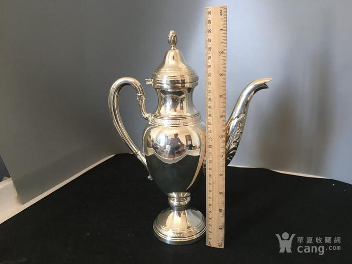 欧洲直邮 意大利银800咖啡茶餐具四件套图5