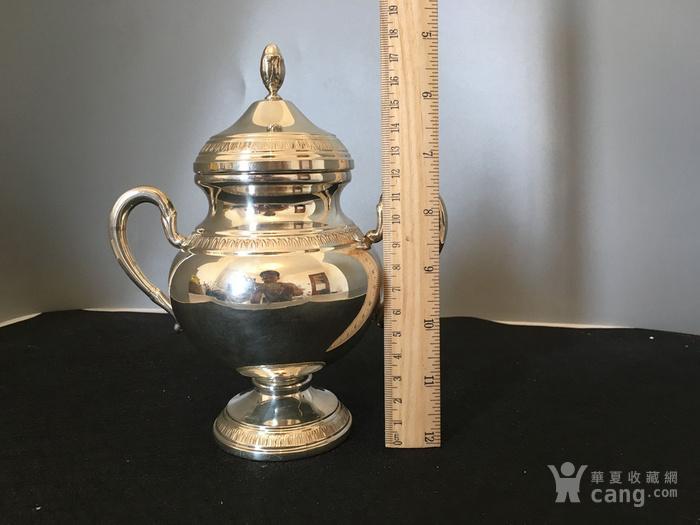 欧洲直邮 意大利银800咖啡茶餐具四件套图6