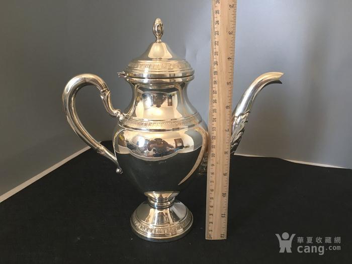 欧洲直邮 意大利银800咖啡茶餐具四件套图8