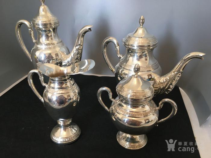 欧洲直邮 意大利银800咖啡茶餐具四件套图10
