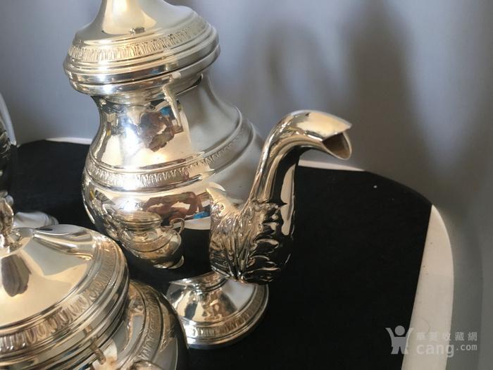 欧洲直邮 意大利银800咖啡茶餐具四件套图11