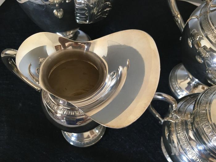 欧洲直邮 意大利银800咖啡茶餐具四件套图12