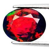 黑欧泊石 天然无任何处理欧珀 3.16克拉椭圆型 极靓七彩