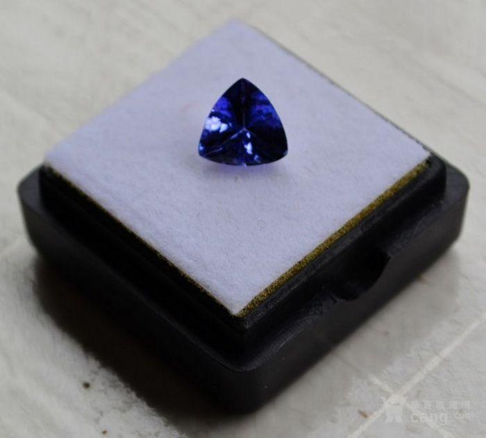 坦桑石 坦桑尼亚D矿区产1.02克拉天然坦桑石祼石戒面图2