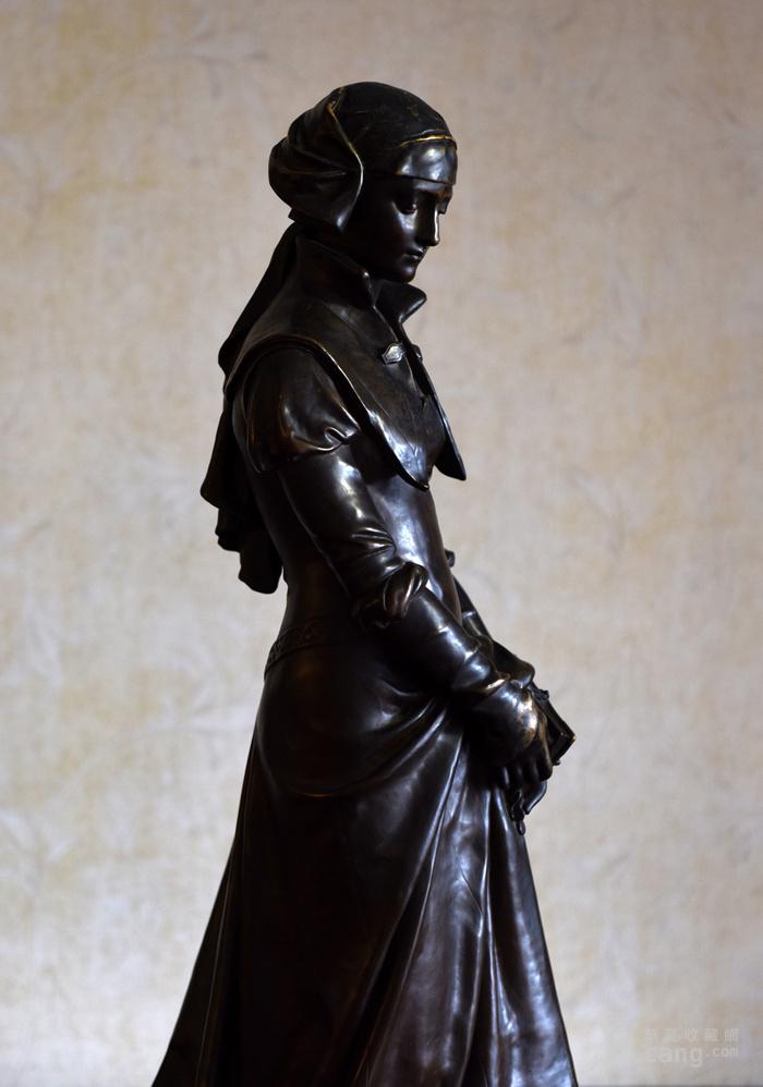 19世纪法国雕塑大师E.Aizelin大型杰作玛格丽特图1