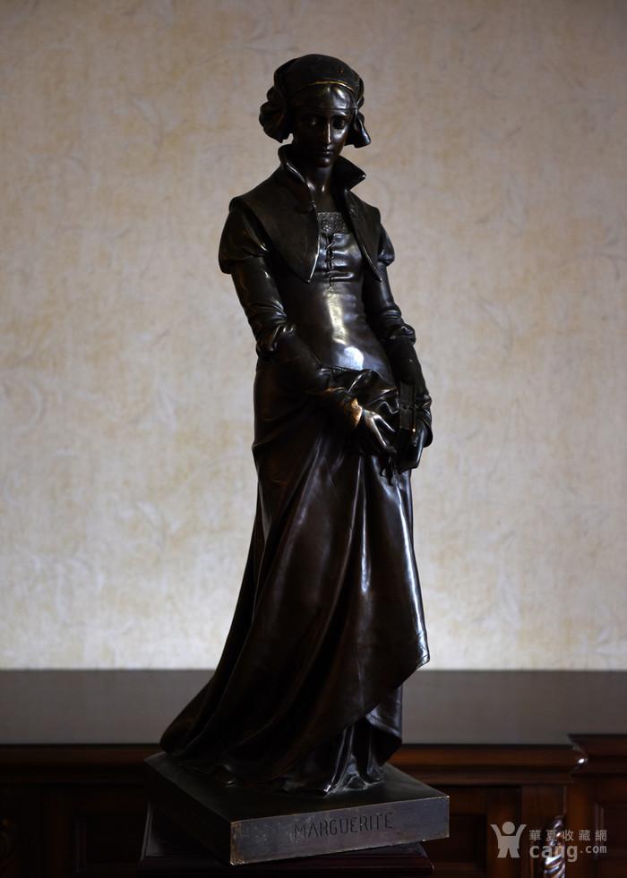 19世纪法国雕塑大师E.Aizelin大型杰作玛格丽特图2